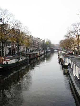 Houseboats in the canals