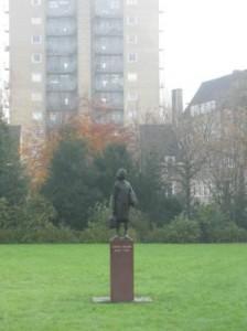 Anne Frank's statue
