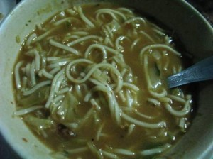 Thukpa (spicy noodle soup)