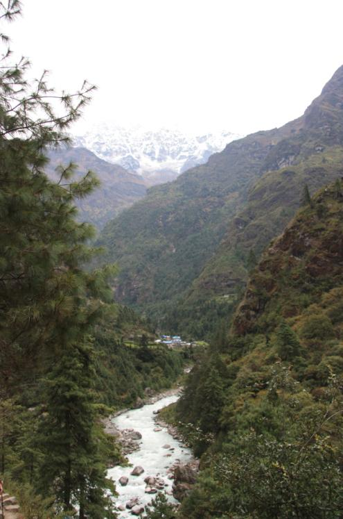 Hills, mountains and rivers make up the landscape on our way to Everest Base Camp