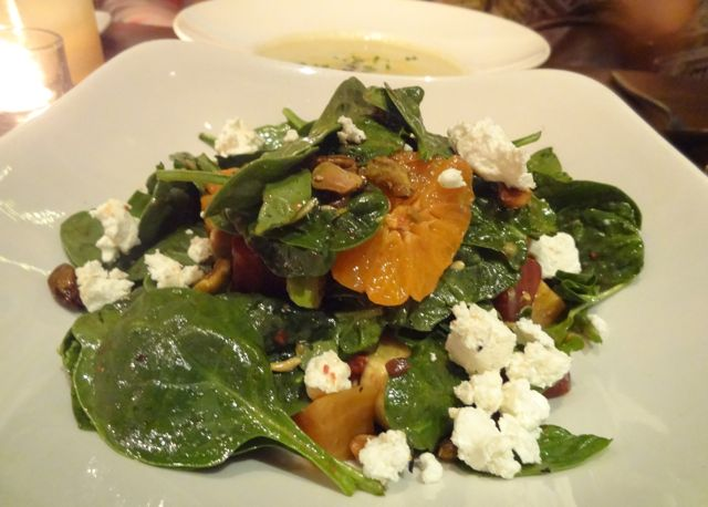 Roasted beet, goat cheese & spinach salad at PrepKitchen