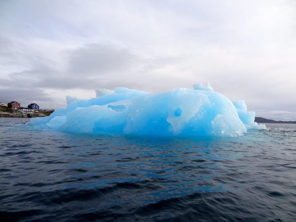 blue ice glacier