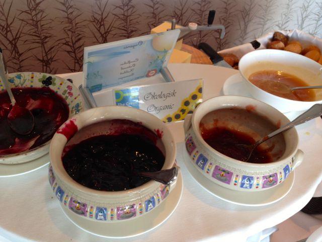 homemade jams served for breakfast