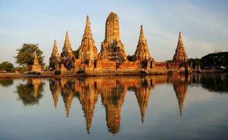 Wat Chaiwatthanaram, a Buddhist temple in Thailand.