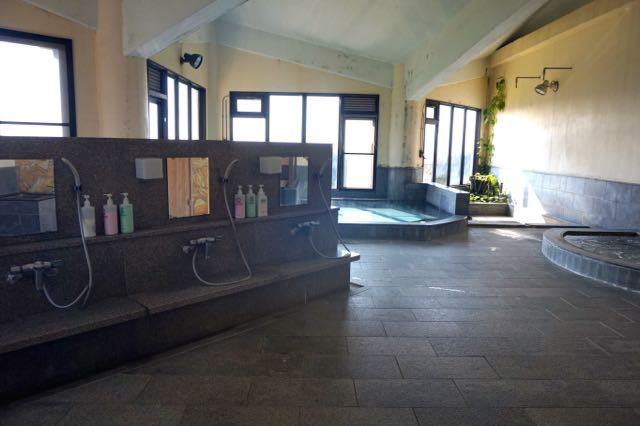 Japanese onsen bath house