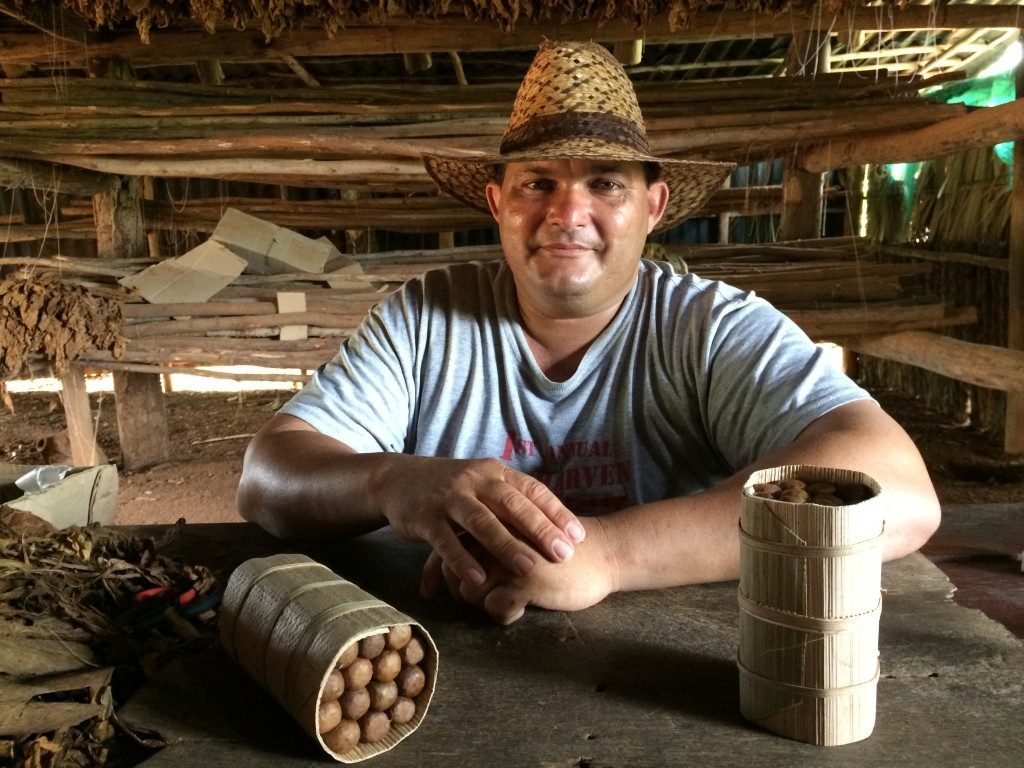 A tobacco farmer in Viñales shows how to make the perfect Cuban cigar.