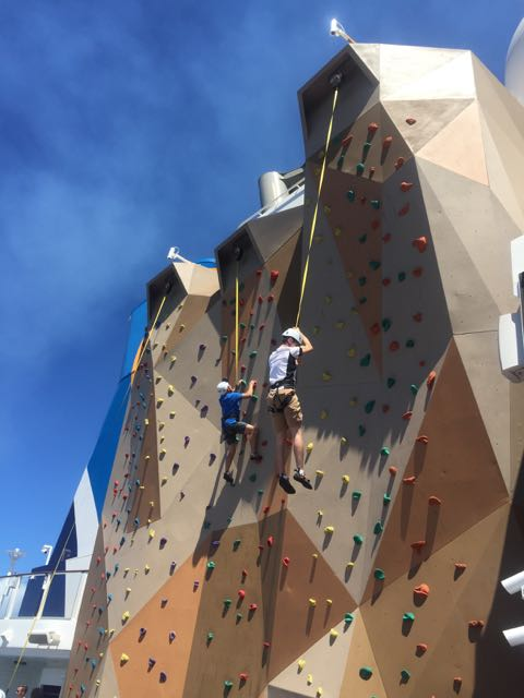 rock climb on Anthem of the Seas