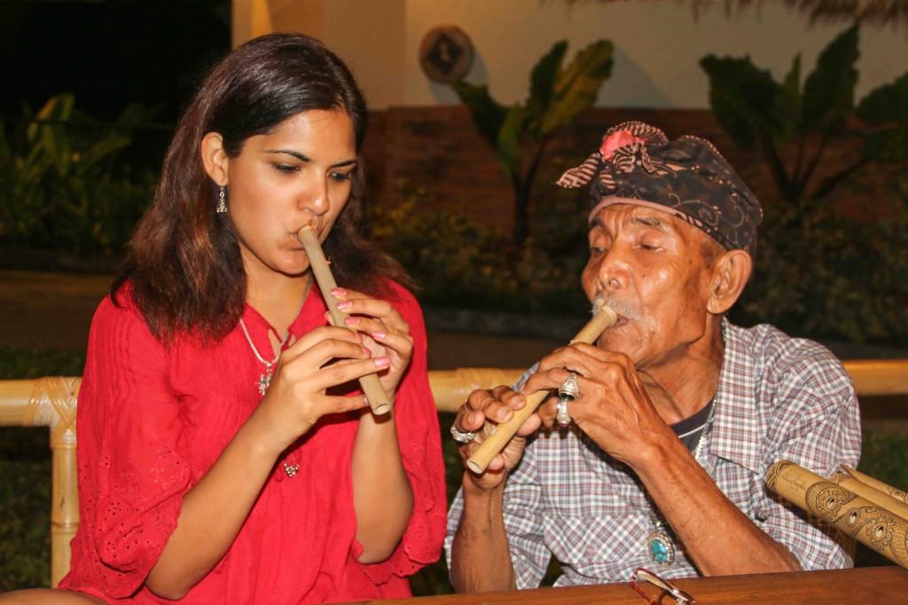 Balinese flute maker